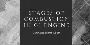 Stages of combustion in CI engine